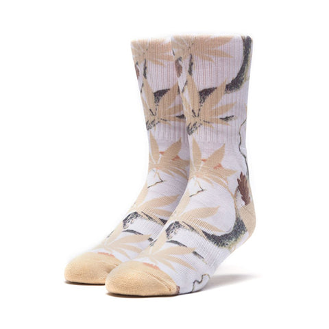 HUF Plantlife Digi Camo Crew Sock in White