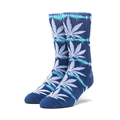 HUF Plantlife Lightning Wash Crew Sock in Blue