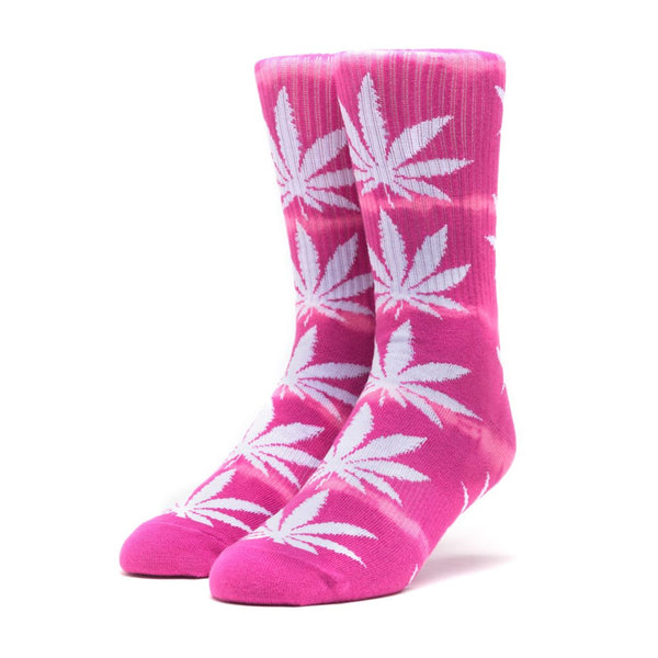 HUF Plantlife Lightning Wash Crew Sock in Pink