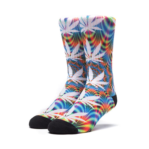 HUF Plantlife Crew Sock - All of the Lights in Blue