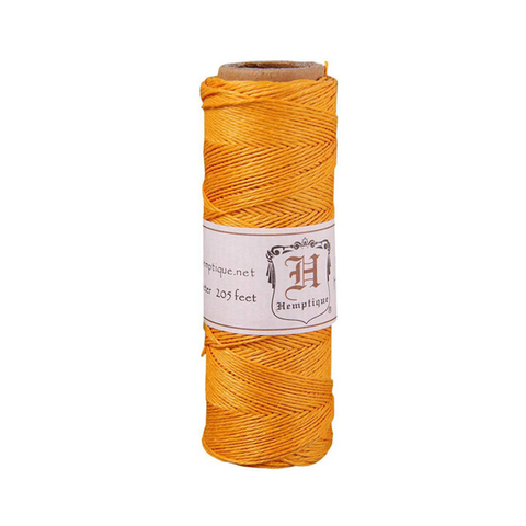 205 ft Hemp Cord (20lb) Spool in Mandarin