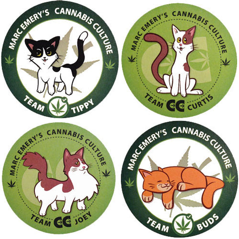Cannabis Cat Sticker Pack