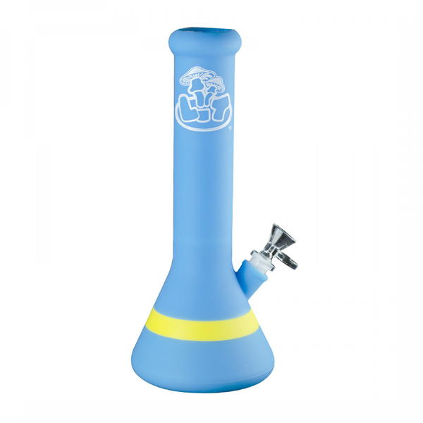 LIT Silicone Beaker Bong with Glass Bowl