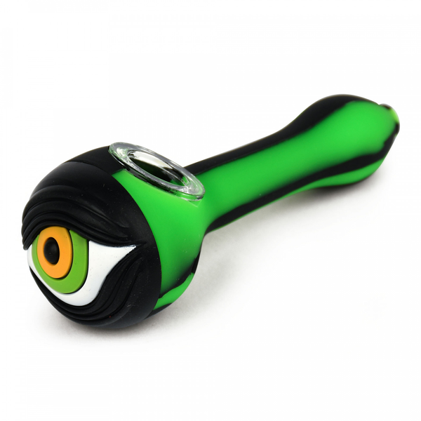 Eyeball Silicone Hand Pipe