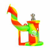 LIT Silicone Bubbler Dab Rig with Titanium Nail