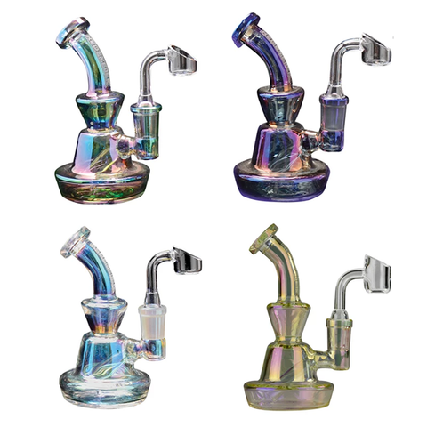 Metallic Terminator Finish Concentrate Rig with Direct Inject Perc