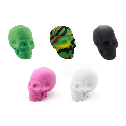 Colored Non-Stick Silicone Skull Jar by NoGoo