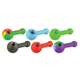 NoGoo Silicone Spoon Handpipe with Glass Bowl