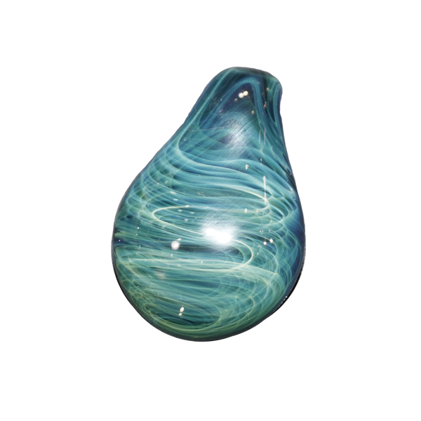 Blue Tear Drop Pendy by Rob Biglin