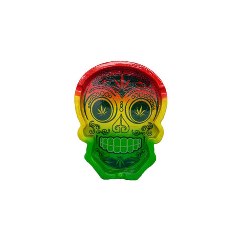 Rasta Colored Day of the Dead Ashtray