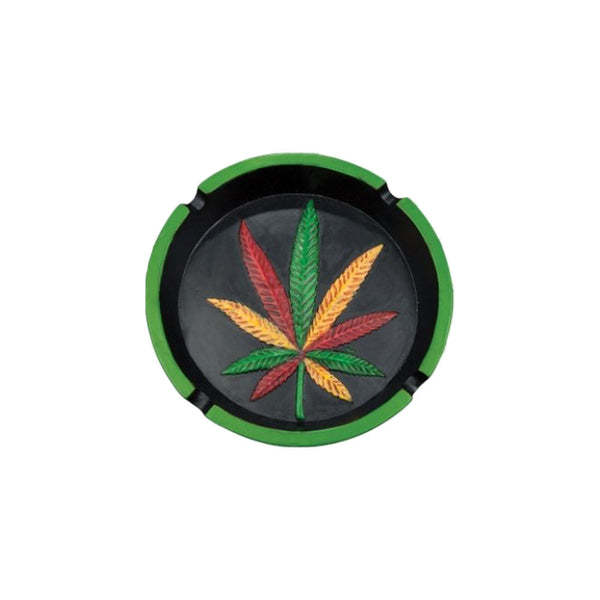 Rasta Hemp Leaf Ashtray