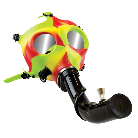 Rasta Gas Mask with Curved Acrylic Steamroller