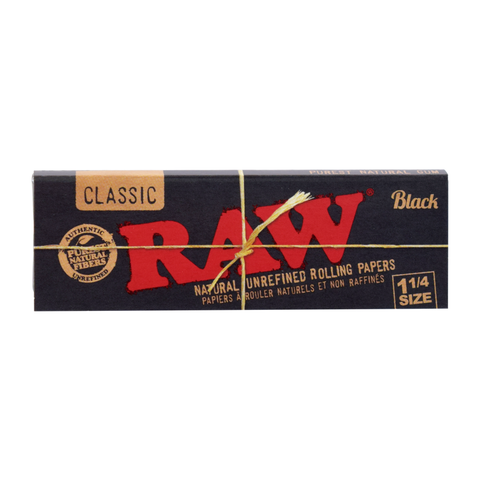 RAW Black Rolling Papers - 1¼ Size