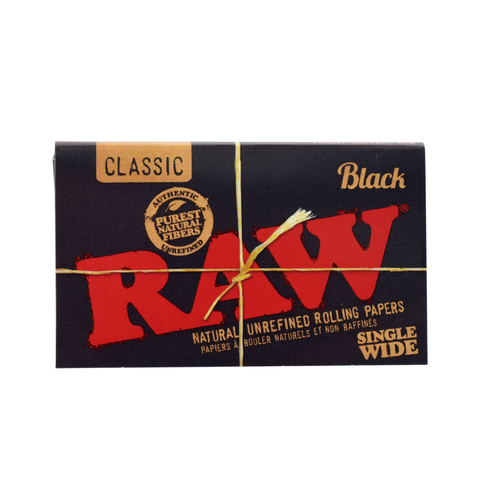 RAW Black Rolling Papers - Single Wide
