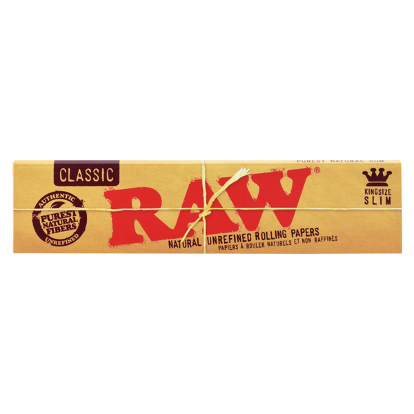 RAW Natural Unrefined Rolling Papers - King Size Slim