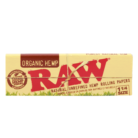 RAW Organic Hemp Natural Unbleached Rolling Papers - 1¼ Size
