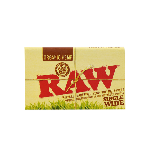RAW Organic Hemp Natural Unbleached Rolling Papers - Single Wide
