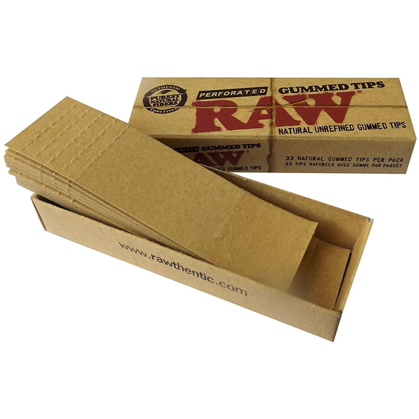 RAW Natural Unrefined Filter Tips - Perforated and Gummed