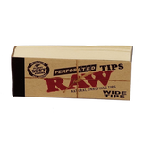 RAW Natural Unrefined Filter Tips - Perforated Wide