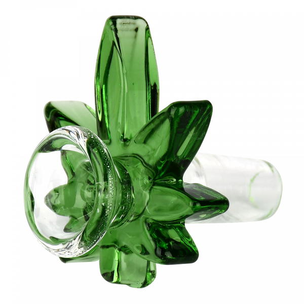 Colored Big Leaf 14mm Cone Bowl