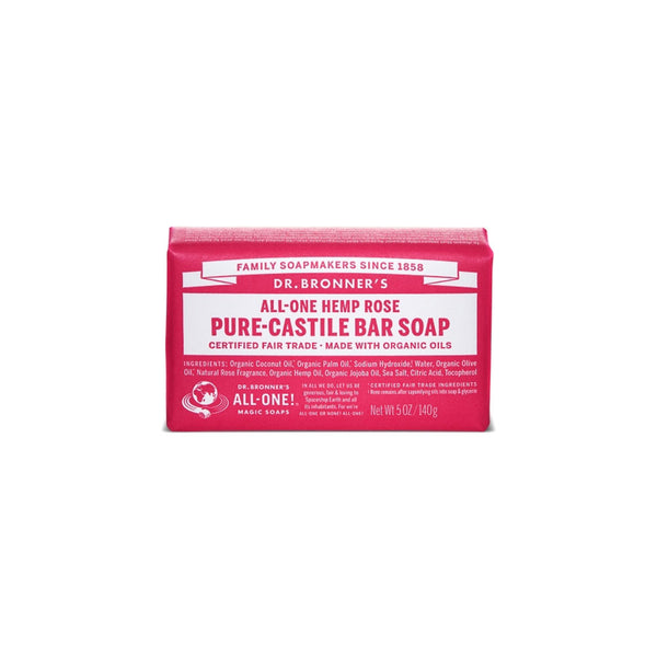 Rose Dr. Bronner's Pure-Castile Bar Soap
