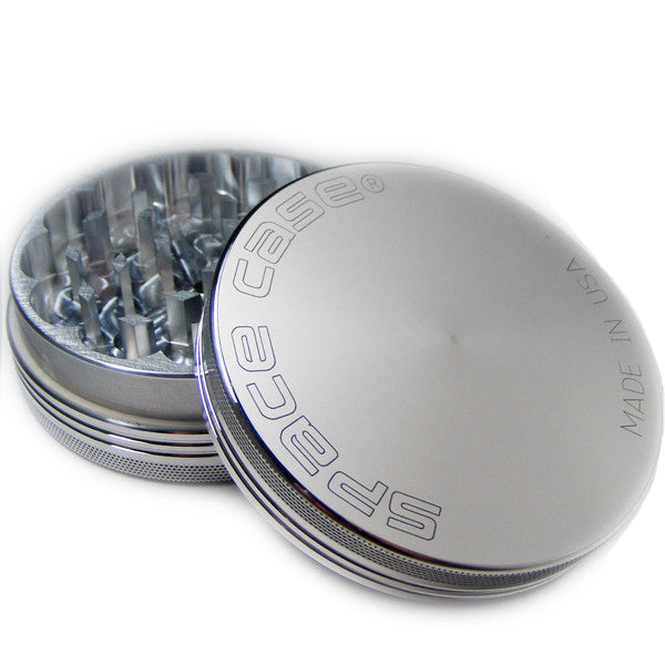 Space Case Aircraft Aluminum Herb Grinder 2 Piece Magnetic