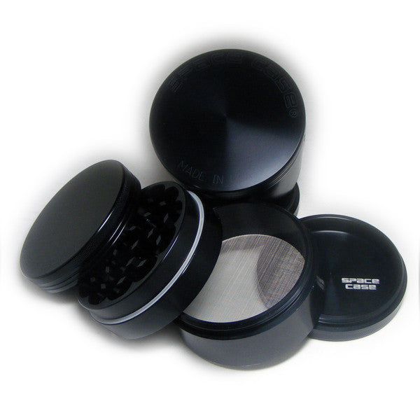Space Case Titanium Herb Grinder 4 Piece Magnetic