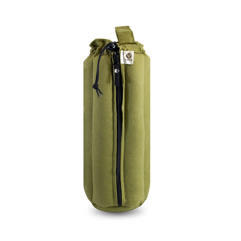 "Plush Tube Bag - 12"" Khaki Colored Hemp"