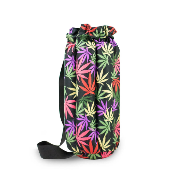 "Plush Tube Bong Bag - 14"" Leaves"