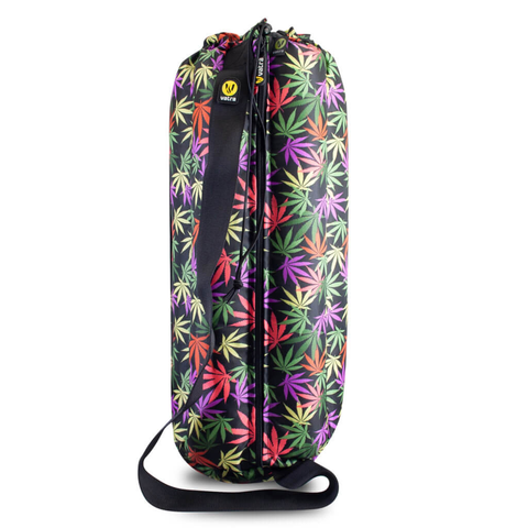 "Plush Tube Bong Bag - 18"" Leaves"