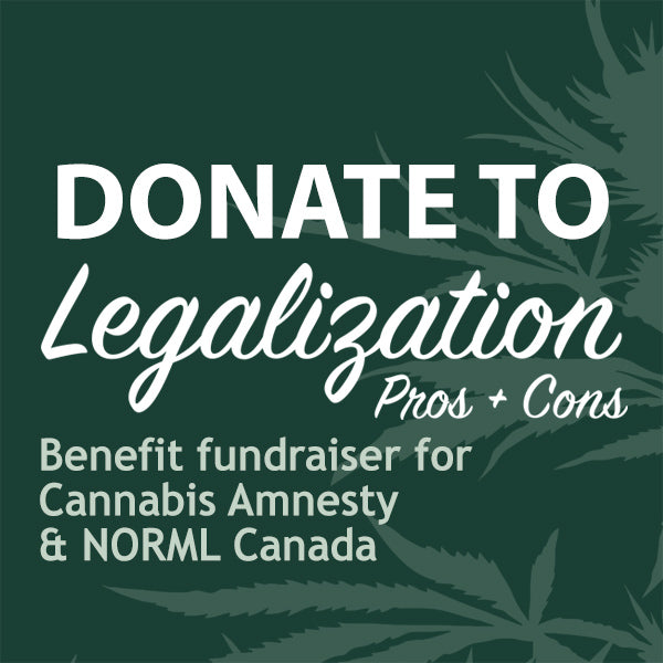 Donate to the Legalization Pros & Cons Event