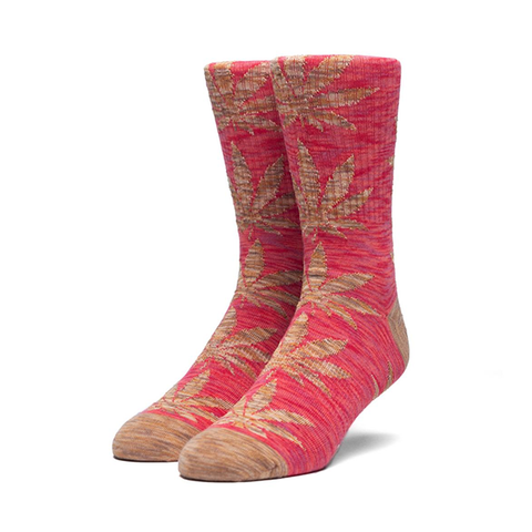 HUF Melange Plantlife Sock in Apple