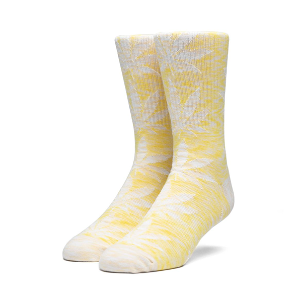 HUF Melange Plantlife Sock in Aurora Yellow