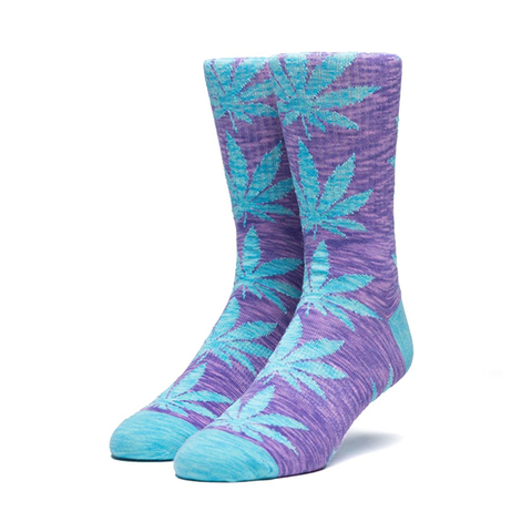 HUF Melange Plantlife Sock in Blue Iris
