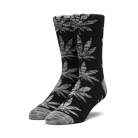 HUF Melange Leaf Plantlife Sock in Black