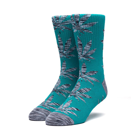 HUF Melange Leaf Plantlife Sock in Deep Jungle