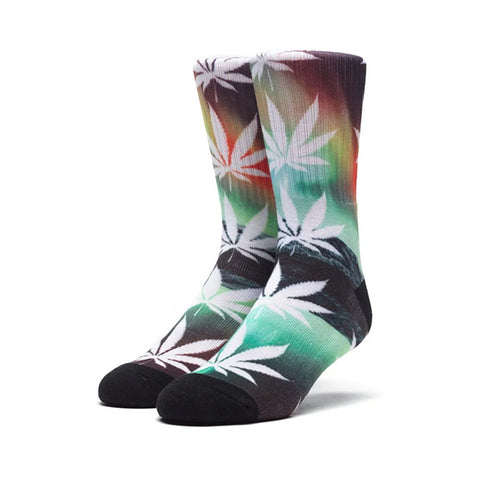 HUF Plantlife Crew Sock - All of the Lights in Green