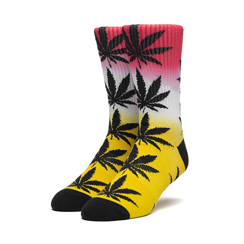 HUF Plantlife Gradient Dye Sock in Aurora Yellow