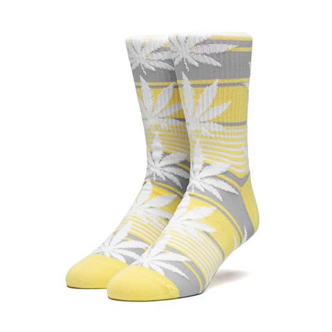 HUF Plantlife Stripe Sock Aurora Yellow