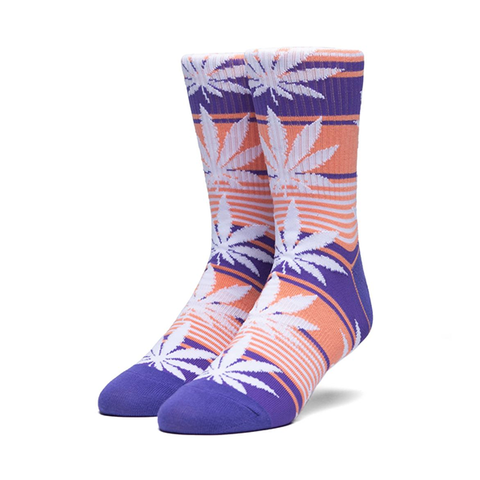 HUF Plantlife Stripe Sock Blue Iris