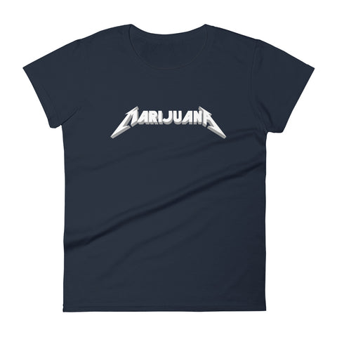 Marijuana Heavy Metal T-Shirt - Women's