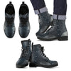 Navy Lace Men's Leather Boots