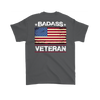 Badass Veteran Shirt (Back) - Charcoal