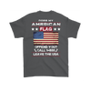 American Flag Shirt (Back) - Charcoal