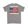 Badass Veteran Shirt (Back) - Sport Grey