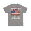 American Flag Shirt (Back) - Sport Grey
