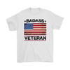 Badass Veteran Shirt - White