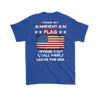American Flag Shirt (Back) - Royal Blue