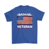 Badass Veteran Shirt - Royal Blue