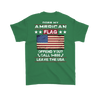 American Flag Shirt (Back) - Irish Green